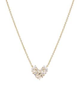 "Nadri - Valentine's Day Cluster Heart Necklace, 16"""