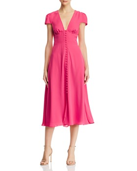 54556060086 Fame and Partners - The Poplar Short-Sleeve Button-Front Dress ...