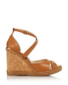 Jimmy Choo - Women's Alanah 105 Cork Wedge Heel Sandals