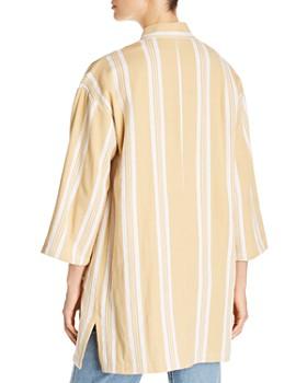 Eileen Fisher Petites - Organic-Cotton Striped Kimono Jacket