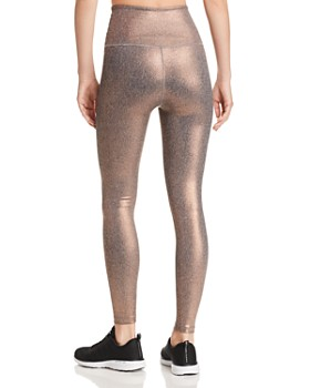 Beyond Yoga - Dusted High-Rise Metallic Leggings