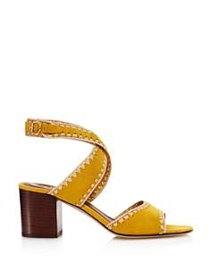 Tory Burch - Women's Arianne Suede Block Heel Sandals - 100% Exclusive