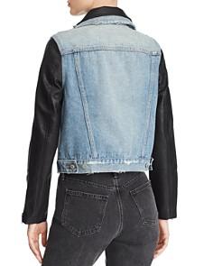 BLANKNYC - Denim & Faux Leather Jacket