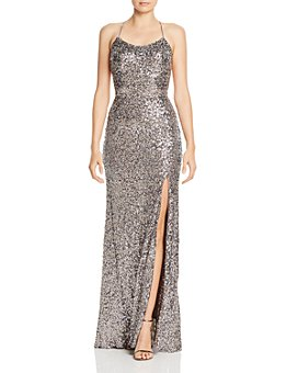 AQUA - Sequin Embellished Gown - 100% Exclusive