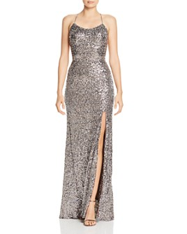 AQUA - Sequin Embellished Gown - 100% Exclusive