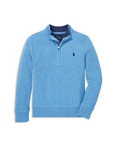 Ralph Lauren - Boys' Cotton-Mesh Half-Zip Pullover - Little Kid