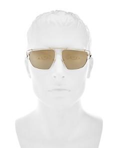 Versace - Men's Mirrored Brow Bar Aviator Sunglasses, 57mm