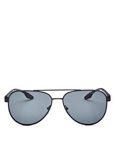 Prada - Men's Linea Rossa Polarized Mirrored Square Sunglasses, 58mm