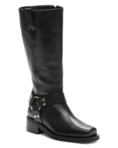 The Kooples - Women's Tall Leather Moto Boots