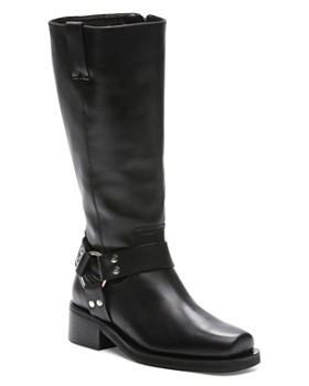 The Kooples - Women s Tall Leather Moto Boots ... 1b48909848a5