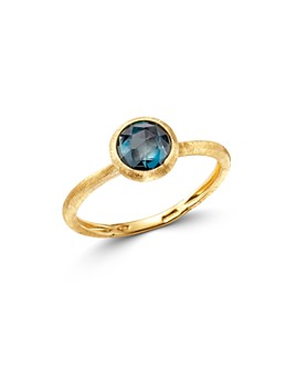 Marco Bicego - 18K Yellow Gold Jaipur Color Stacking Ring with London Blue Topaz