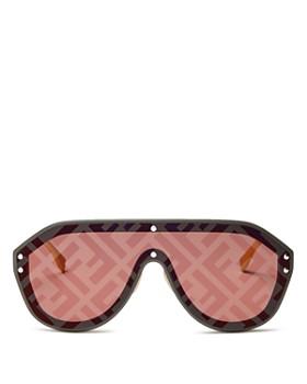 140e188e3e3 Fendi - Women s Logo-Print Shield Sunglasses