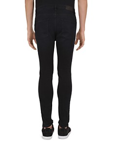 The Kooples - Zipper Slim Fit Jeans in Black Washed