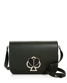 kate spade new york - Medium Flap Leather Shoulder Bag