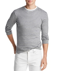 The Men's Store at Bloomingdale's - Tri-Color Striped Crewneck Sweater - 100% Exclusive