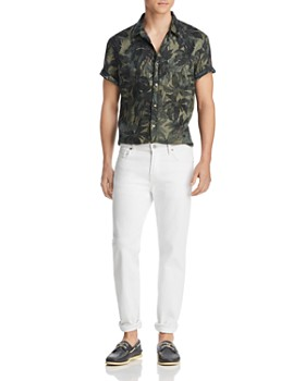 The Men's Store at Bloomingdale's - Short-Sleeve Tropical-Print Classic Fit Shirt - 100% Exclusive