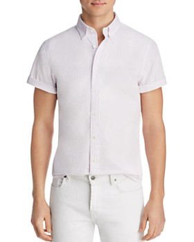 The Men's Store at Bloomingdale's - Short-Sleeve Seersucker Slim Fit Button-Down Shirt - 100% Exclusive