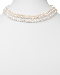 "Bloomingdale's - Cultured Freshwater Pearl Three-Strand Necklace with 14K White Gold, 19"" - 100% Exclusive"
