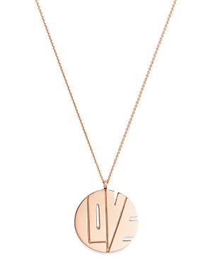 Paul Gerben 14K Rose Gold Love Pendant Necklace, 16