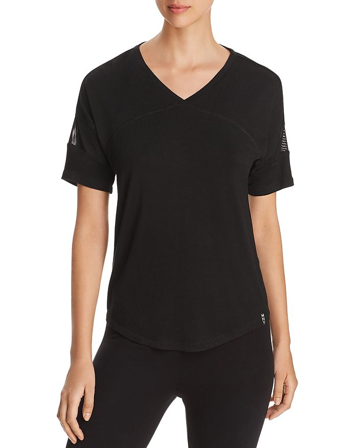 Marc New York - V-Neck Mesh-Panel Tee