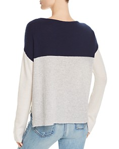 ATM Anthony Thomas Melillo - Color-Blocked Cashmere Sweater