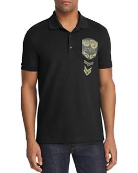 Versace Collection - Textured Logo Appliqué Regular Fit Polo Shirt