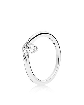 1cf660fb3 Pandora - Sterling Silver & Cubic Zirconia Classic Wish Ring