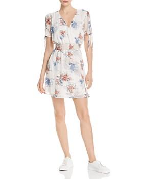 Sage the Label - Sahale Floral-Print Faux-Wrap Mini Dress