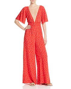 Finders Keepers - Frida Wide-Leg Floral-Print Jumpsuit