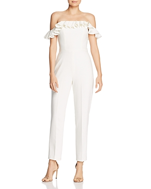 French Connection Whisper Ruffle-Trim Jumpsuit