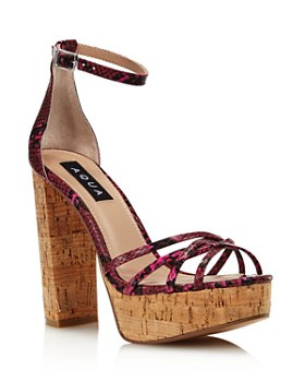 a7fd132b7ee0 AQUA - Women s Milo Snake Print Platform Sandals - 100% Exclusive ...