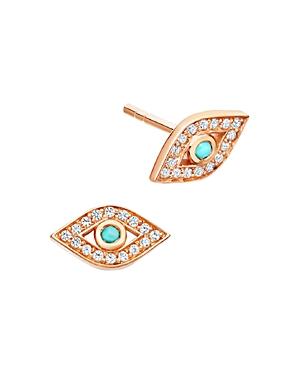 Astley Clarke Mini Evil Eye Biography Stud Earrings in 18K Gold-Plated Sterling Silver or 18K Rose G