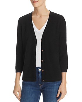 C by Bloomingdale's - Star-Button Cashmere Cardigan - 100% Exclusive