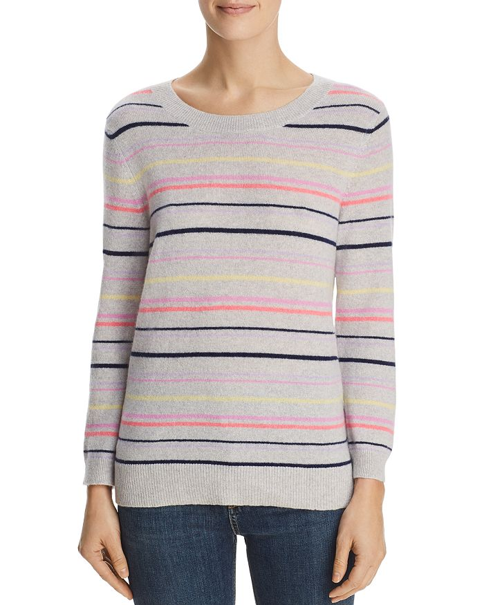 C by Bloomingdale's - Striped Cashmere Sweater - 100% Exclusive