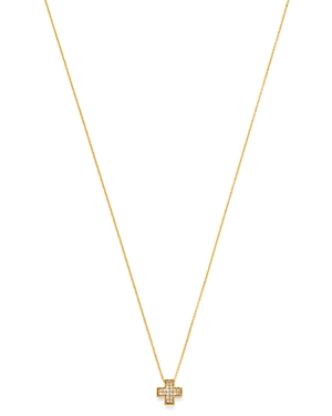 Bloomingdale's Pave Diamond Cross Pendant Necklace in 14K Yellow Gold, 0.06 ct. t.w. - 100% Exclusive