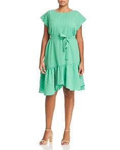 VINCE CAMUTO Plus - Asymmetric Ruffle Hem Dress