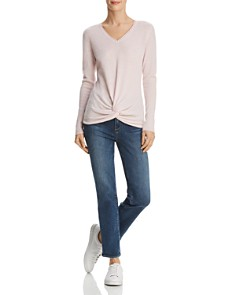 C by Bloomingdale's - Twist-Front Cashmere Sweater - 100% Exclusive