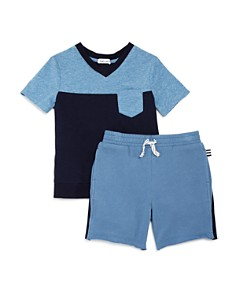 Splendid - Boys' Colorblock Pocket Tee & Shorts Set - Little Kid