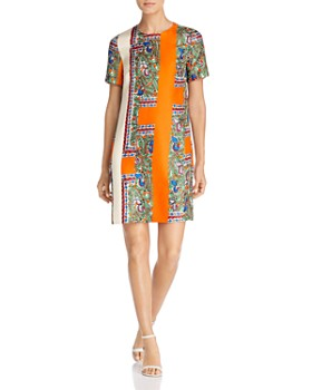 3f6e0de3eeac7 Tory Burch - Mallory Printed Silk Dress ...
