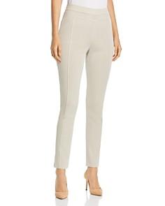 Misook - Trim-Detail Slim Pants