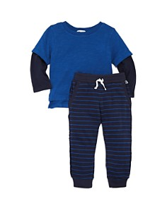 Splendid - Boys' Striped Layered-Look Tee & Jogger Pants Set - Baby