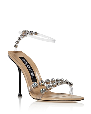 Sergio Rossi Sandals WOMEN'S STONE-EMBELLISHED HIGH-HEEL SANDALS