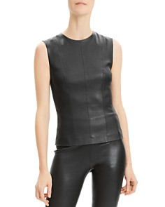 Theory - Sleeveless Leather Top