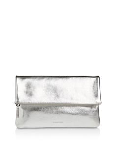 Whistles - Chapel Large Leather Foldover Clutch