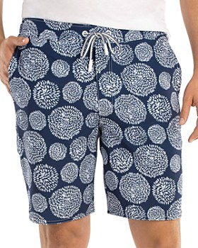 Johnnie-O - Seaside Shell-Print Swim Trunks
