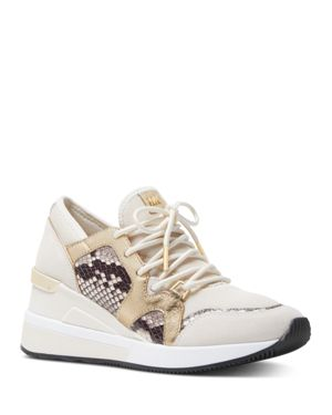 Women'S Liv Lace-Up Sneakers in Light Cream