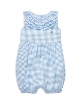 f224d87ba Ralph Lauren - Girls' Ruffled Gingham Cotton Romper - Baby ...