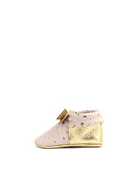 Freshly Picked - Girls' Heirloom Bowtie Leather Moccasins - Baby