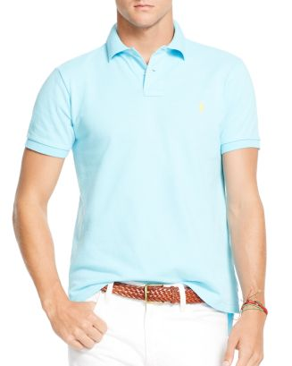 Polo Ralph Lauren Mesh Custom Slim Fit Polo Shirt