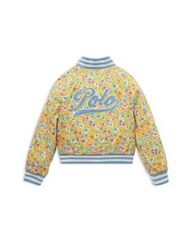 Ralph Lauren - Girls' Floral Print Baseball Jacket - Little Kid